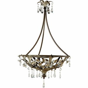 Yosemite Home Decor Splendido Collection Attractive 4 Lights Pendant Lighting in Oxido with Gold