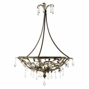 Yosemite Home Decor Splendido Collection Beautiful 3 Light Pendant Lighting in Oxido with Gold