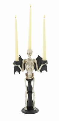 Spooky Skeleton Themed Candle Holder - 76667 by Benzara