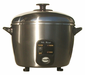 Sunpentown Cups Stainless Steel Rice Cooker and Steamer
