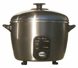 Sunpentown 6cups Stainless Steel Rice Cooker and Steamer