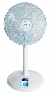 "SPT-SF-1468-14"" Remote Control Standing Fan With Adjustable Head and Height by Sunpentown"