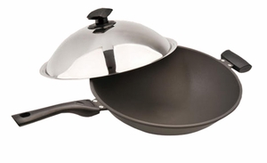 SPT-SK-7363-Super-Nano Anodized Wok by Sunpentown
