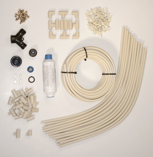 "SPT-SM-3824-3/8"" Cooling Kit with 24 Nozzles, 1 50-foot hose and 19 2-foot hose segments by Sunpentown"