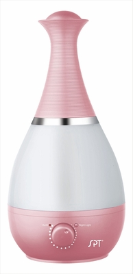 SPT-SU-2550P-Ultrasonic Humidifier with Fragrance Diffuser in Pink and White Color by Sunpentown