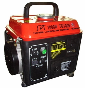 SPT-TG-1000CA 1000W 2.0 HP Gasoline Generator with CARB (use in CA only) by Sunpentown