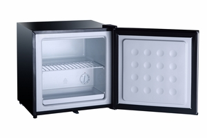 SPT-UF-150SS-1.1 cu.ft.Upright Freezer with Stainless Steel Door and Black Cabinet by Sunpentown