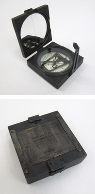 Square Brunton Compass in Wooden Box by IOTC