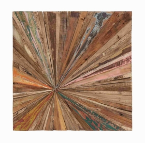 Painted In Natural Color Abstract Walldecor In Square Shaped - 38434 by Benzara
