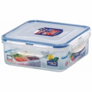 Square Short Food Container 870ml  W/divider