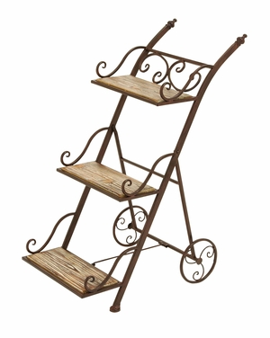 Stair Step Ladder Planter Stand For Your Plants - 66553 by Benzara