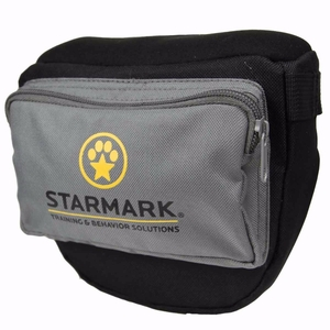 "Starmark Dog Pro Training Treat Pouch Black/Gray 6.75"" x 10.5"" x 3.5"""