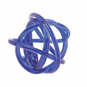 Startling Glass Knots Blue - 61880 by Benzara
