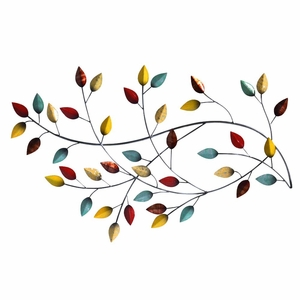 Stratton Home Decor Autumn Blowing Leaves Wall Decor