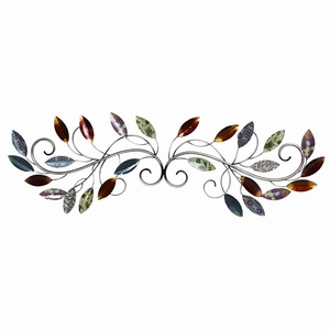 Stratton Home Decor Multi Leaf Scroll Wall Decor