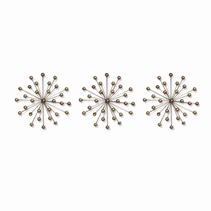 Shd-Shd0063 Set Of 3 Gold Burst