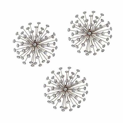 Buy Stratton Home Decor Set Of 3 Gold Burst Wall Decor At