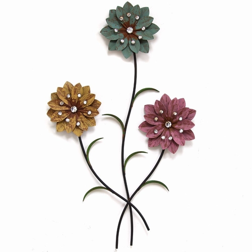 Buy Stratton Home Dcor Whimsical 3 Stem Flowers Wall Dcor
