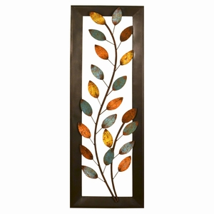Stratton Home Decor Winding Leaves Panel Wall Decor