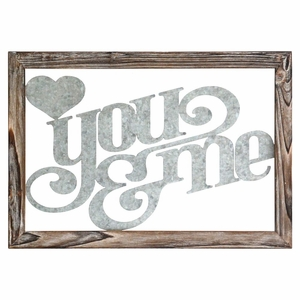 "Stratton Home Decor ""You and Me"" Wall Decor"