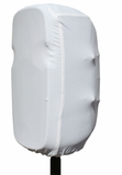 Stretchy dust cover to fit most 15 inch portable speaker cabinets. White by Gator Cases Inc