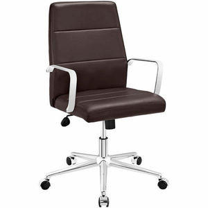 Stride Mid Back Office Chair, Brown