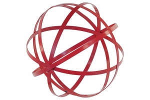 Striking Large Red Metal Orb Dyson Sphere Design decor