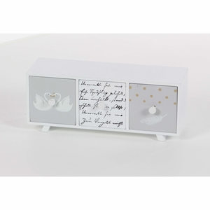 Striking Wood Decor Chest, White - 98769 by Benzara