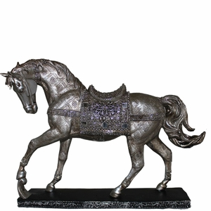 Stunning Horse with Stand Polyresin