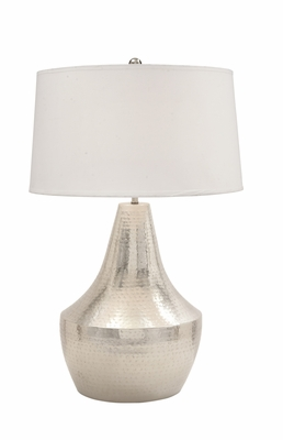 Stunning Metal Hammered Table Lamp - 23572 by Benzara