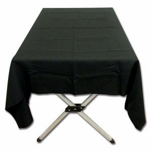 Stunning Round Tablecloth Black Polyester Poplin Tablecloth by TAIB