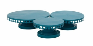 Stunning Set Of Three Metal Cup Cake Stand