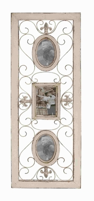 Country Style Wood Wall Photo Frame - 20415 by Benzara
