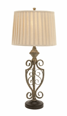 Stunningly Designed Metal Polystone Table Lamp - 97382 by Benzara