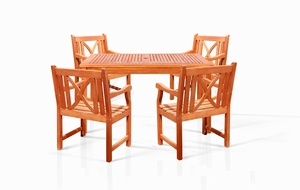 Sturdy and Large Dining Set with square table, and Arm Chairs 12 V1395SET12