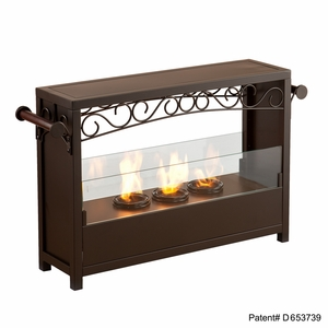 Styled Ainslie Portable Indoor/Outdoor Fireplace by Southern Enterprises