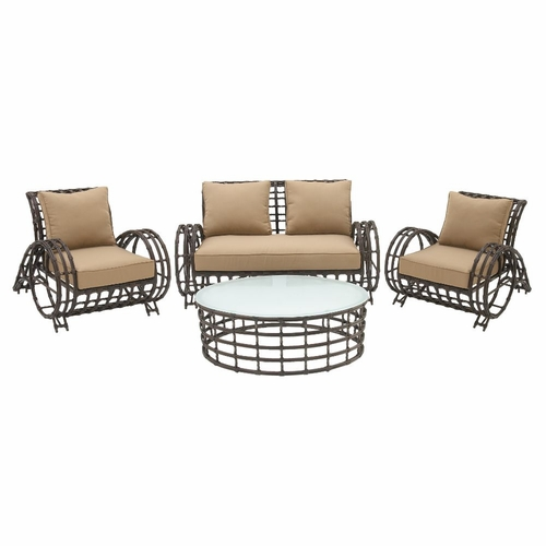 Buy stylish aluminum work outdoor set of 4 at for Wild orchid furniture