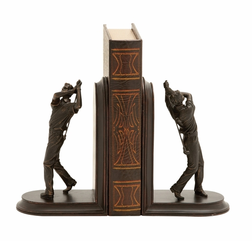 Buy Stylish And Unique Golf Themed Bookends By Woodland Import