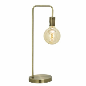 Stylish Metal Gold Table Lamp with Bulb by Benzara