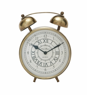 Stylish Metal Table Clock - 40654 by Benzara
