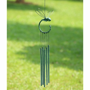 Stylized Dragonfly Wind Chime with Tubes Hanging on its Tail by SPI-HOME