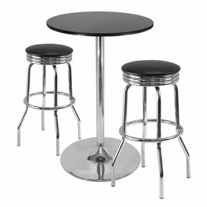 """Summit 3-Pc Pub Table Set, 28"""" Table and 2 Stools by Winsome Woods"""