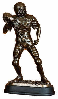 BROWN POLYSTONE FOOTBALL PLAYER BEAUTIFULLY CARVED - 49825 by Benzara