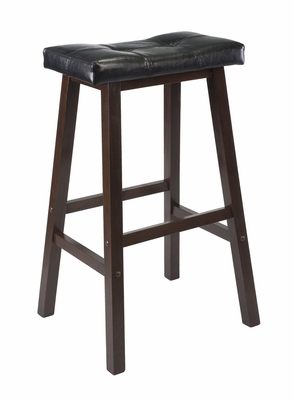 """Superb Piece of Mona 24"""" Cushion Saddle Seat Stool by Winsome Woods"""