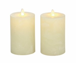 Superb Set Of 2 Flameless Candle With Remote - 54884 by Benzara