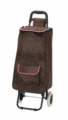 T18-PINKLEOPARD Santorini Rolling Shopping  Luggage Tote
