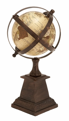 Aluminum Globe Nautical Maritimedecor - 28343 by Benzara