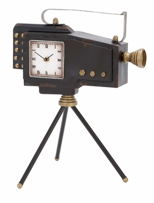 Tabletop Clock - Charming Clock Made Like A Film Camera - 55855 by Benzara