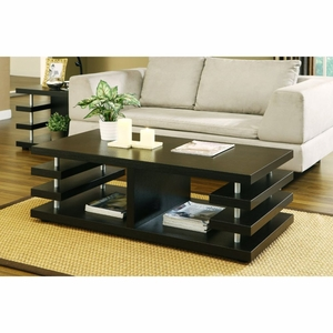 Taylin Modern Design Dark Espresso Coffee Table