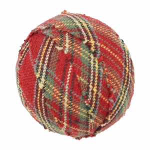"Tea Cabin Fabric Ball #5-1.5"" Set of 6"